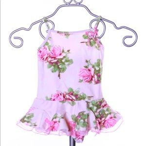 🌟 Kate Mack Size 4T One piece floral swimsuit LN